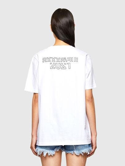 Diesel - CL-T-JUST-O1, Blanco - Camisetas - Image 4