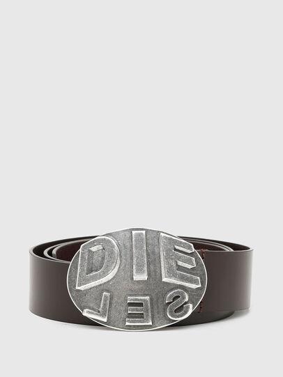 Diesel - B-METALROUND, Marrón - Cinturones - Image 1