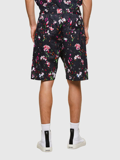 Diesel - P-TOLLER-SHORT-FLOWE, Negro - Shorts - Image 2