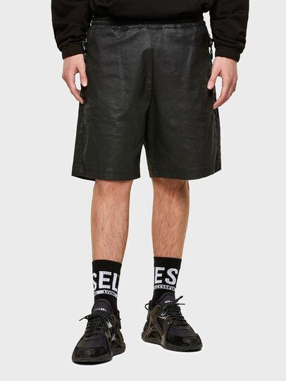 Diesel - D-HORTY-SP JOGGJEANS, Negro - Shorts - Image 1