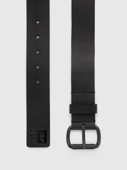 Diesel - B-DIVISION, Negro Brillante - Cinturones - Image 3