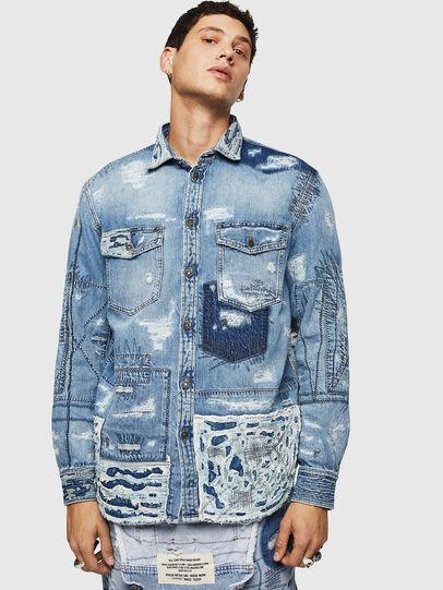Diesel - D-HISAKY-SY, Blue Jeans - Camisas de Denim - Image 1