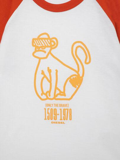 Diesel - TBALYB-R, Blanco/Naranja - Camisetas y Tops - Image 3