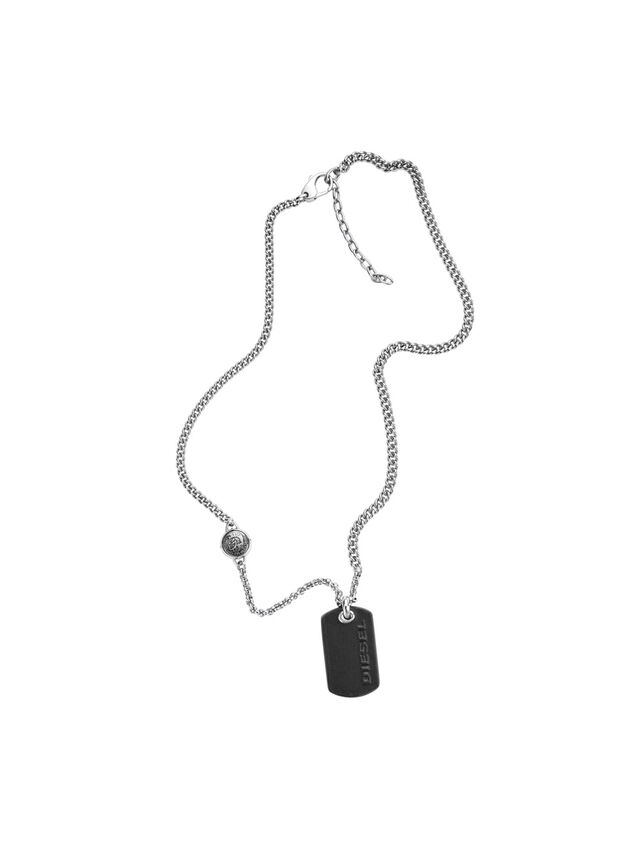Diesel - NECKLACE DX1012, Plata - Collares - Image 1