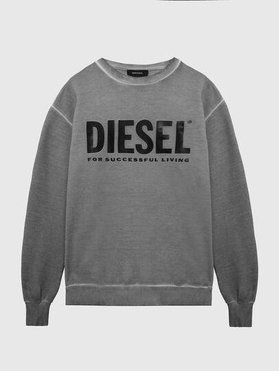 Diesel - S-GIR-DIVISION-LOGO, Gris oscuro - Sudaderas - Image 1