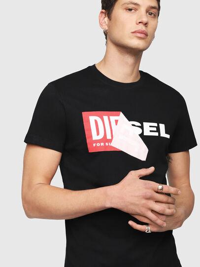 Diesel - T-DIEGO-QA, Negro - Camisetas - Image 3