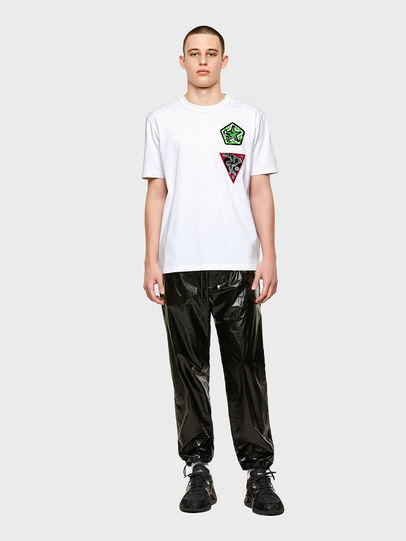 Diesel - T-JUBIND-SLITS-E1, Blanco - Camisetas - Image 4