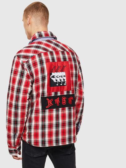 Diesel - S-JOHNS, Rojo/Negro - Camisas - Image 2