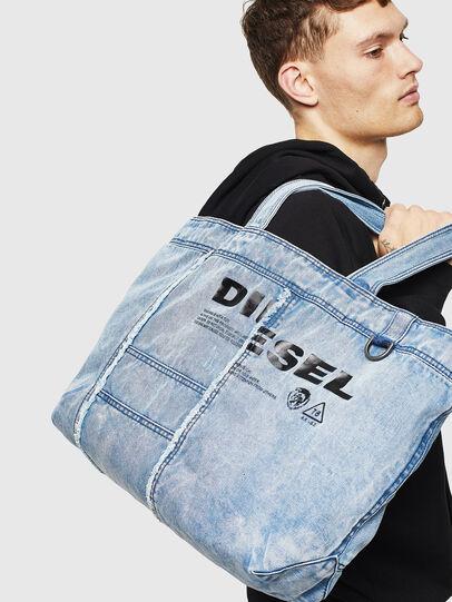 Diesel - D-THISBAG SHOPPER L, Azul Claro - Bolsos Shopper y Al Hombro - Image 6