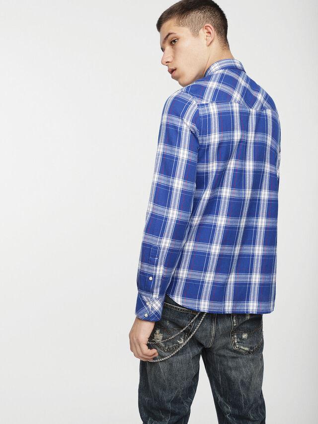 Diesel - S-EAST-LONG-C, Azul/Blanco - Camisas - Image 2