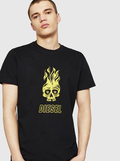 Diesel - T-DIEGO-A11, Negro/Amarillo - Camisetas - Image 1