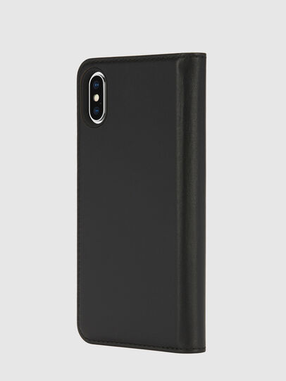 Diesel - SLIM LEATHER FOLIO IPHONE X, Negro - Fundas tipo libro - Image 3