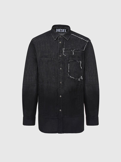 Diesel - D-NESKY, Negro - Camisas de Denim - Image 1