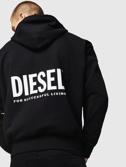 Diesel - LR-S-GIRK-HOOD-VIC, Negro - Sudaderas - Image 2