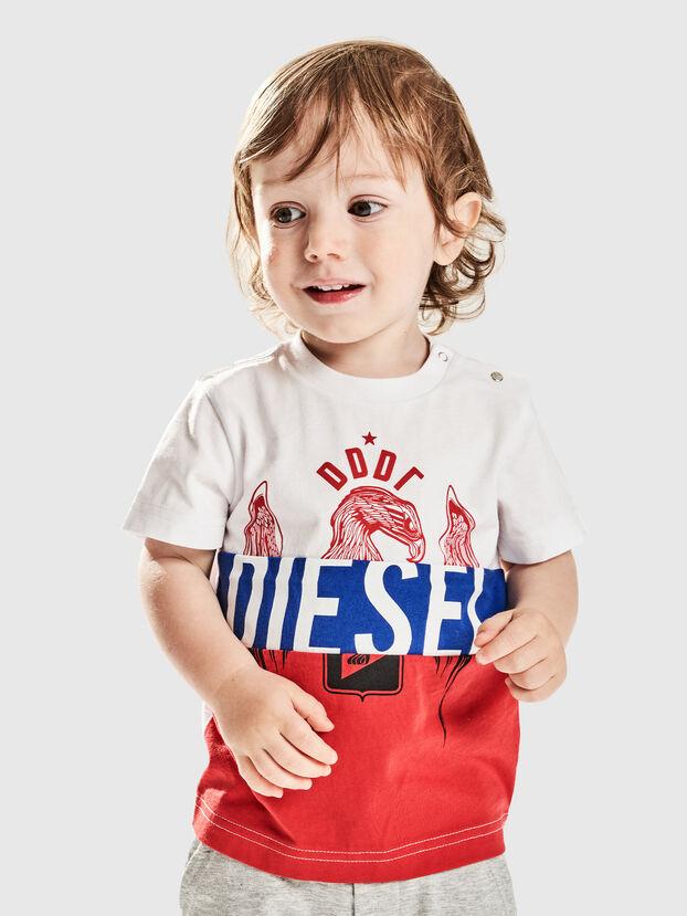TRICKYB, Blanco/Rojo/Azul - Camisetas y Tops