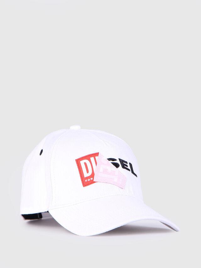 Diesel - CAKERYM, Blanco - Gorros, sombreros y guantes - Image 1