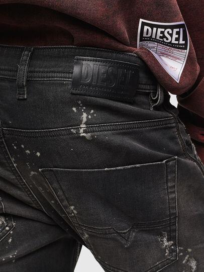 Diesel - Krooley JoggJeans 084AE, Negro/Gris oscuro - Vaqueros - Image 5