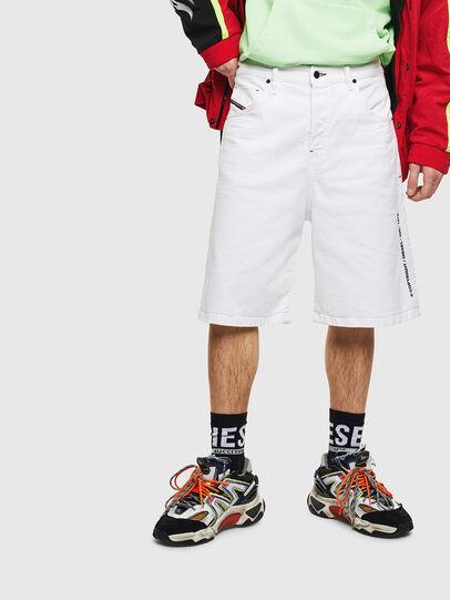 Diesel - D-BRON, Blanco - Shorts - Image 1