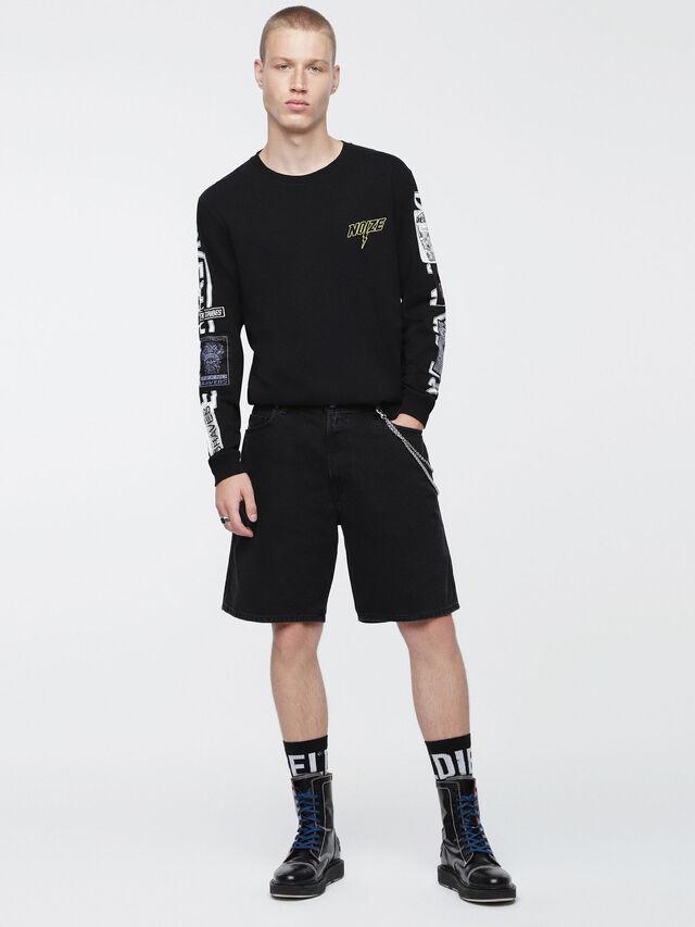 Diesel - D-WILLOH, Negro - Shorts - Image 4