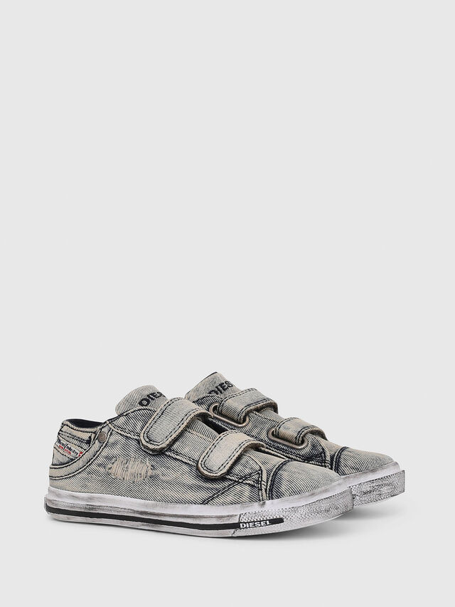 Diesel - SN LOW STRAP 11 DENI, Grey Jeans - Calzado - Image 2