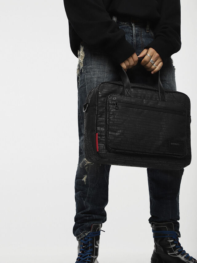 Diesel - F-DISCOVER BRIEFCASE, Negro - Maletines - Image 4