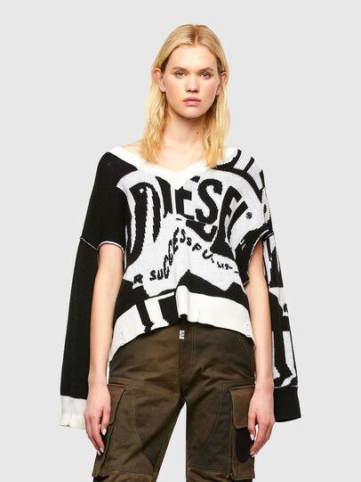Diesel - M-ROSALINE, Blanco/Negro - Punto - Image 1
