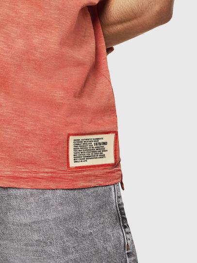 Diesel - T-DIEGO-V-CUT, Rojo Fuego - Camisetas - Image 5
