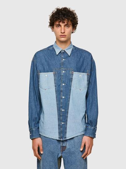 Diesel - DxD-SHIRT, Azul medio - Camisas de Denim - Image 2