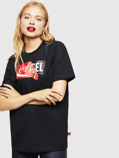 Diesel - CC-T-JUST-COLA, Negro - Camisetas - Image 2