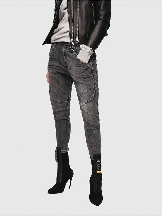 Diesel - Fayza JoggJeans 8880U, Negro/Gris oscuro - Vaqueros - Image 1