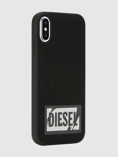 Diesel - BLACK DENIM IPHONE X CASE, Negro - Fundas - Image 6