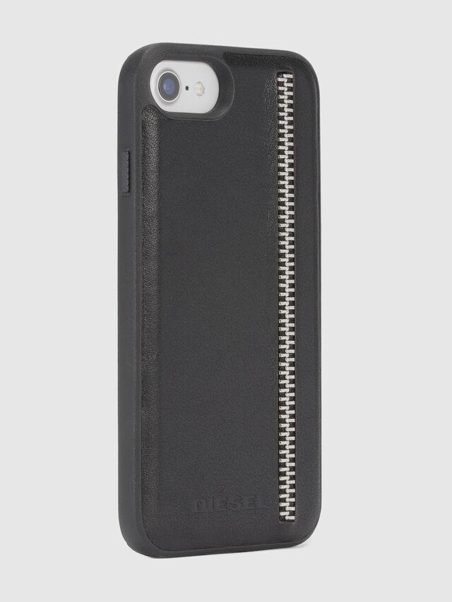 ZIP BLACK LEATHER IPHONE 8/7/6s/6 CASE, Negro