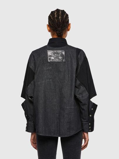 Diesel - DE-RINGLE, Negro - Camisas de Denim - Image 2