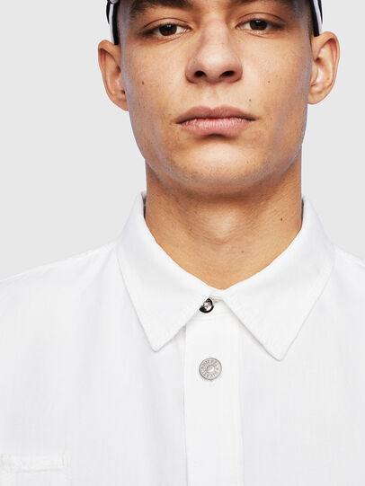 Diesel - D-FLOX, Blanco - Camisas de Denim - Image 3