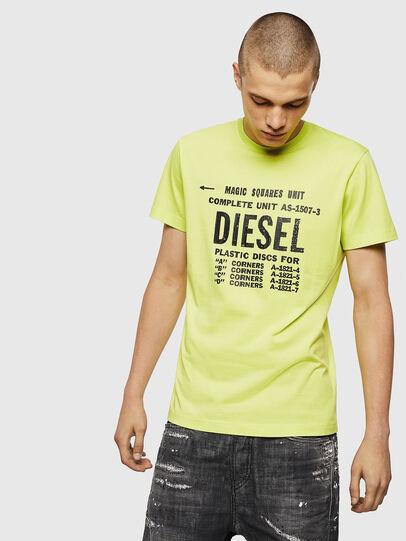 Diesel - T-DIEGO-B6, Amarillo Fluo - Camisetas - Image 1
