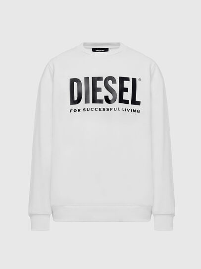 Diesel - S-GIR-DIVISION-LOGO, Blanco - Sudaderas - Image 1