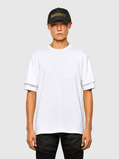 Diesel - T-FONTAL, Blanco - Camisetas - Image 1