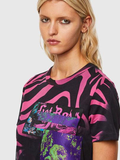 Diesel - T-SILY-R3, Negro/Rosa - Camisetas - Image 3