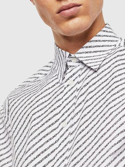 Diesel - S-PENN-COPY, Blanco - Camisas - Image 3