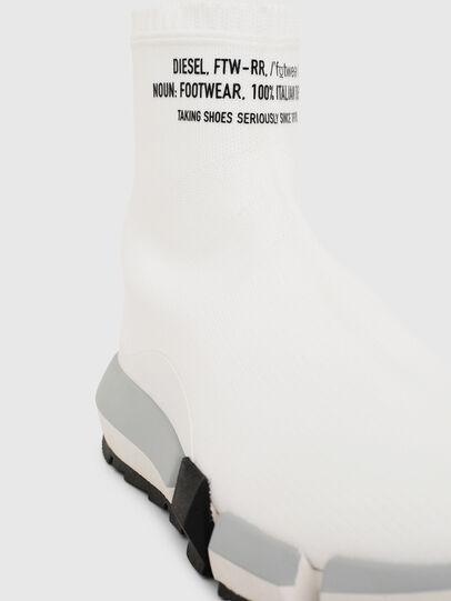 Diesel - H-PADOLA HIGH SOCK W, Blanco - Zapatillas - Image 5