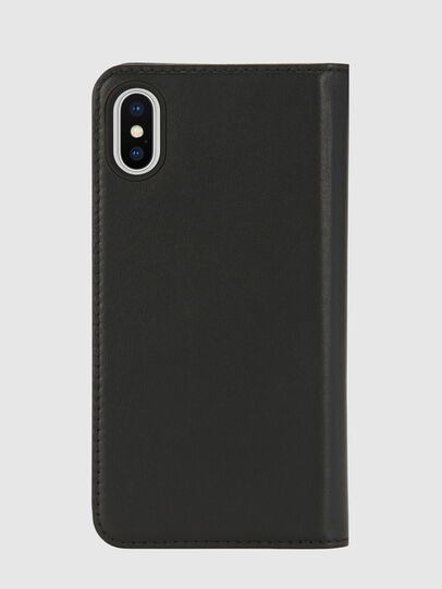 Diesel - SLIM LEATHER FOLIO IPHONE X, Negro - Fundas tipo libro - Image 2