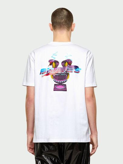 Diesel - T-JUBIND-SLITS-E1, Blanco - Camisetas - Image 2