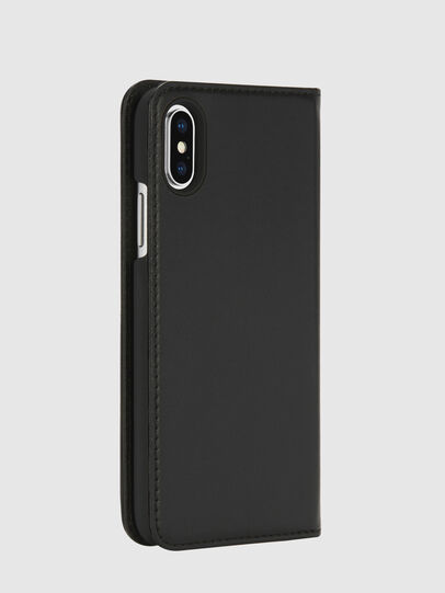 Diesel - SLIM LEATHER FOLIO IPHONE X, Negro - Fundas tipo libro - Image 4