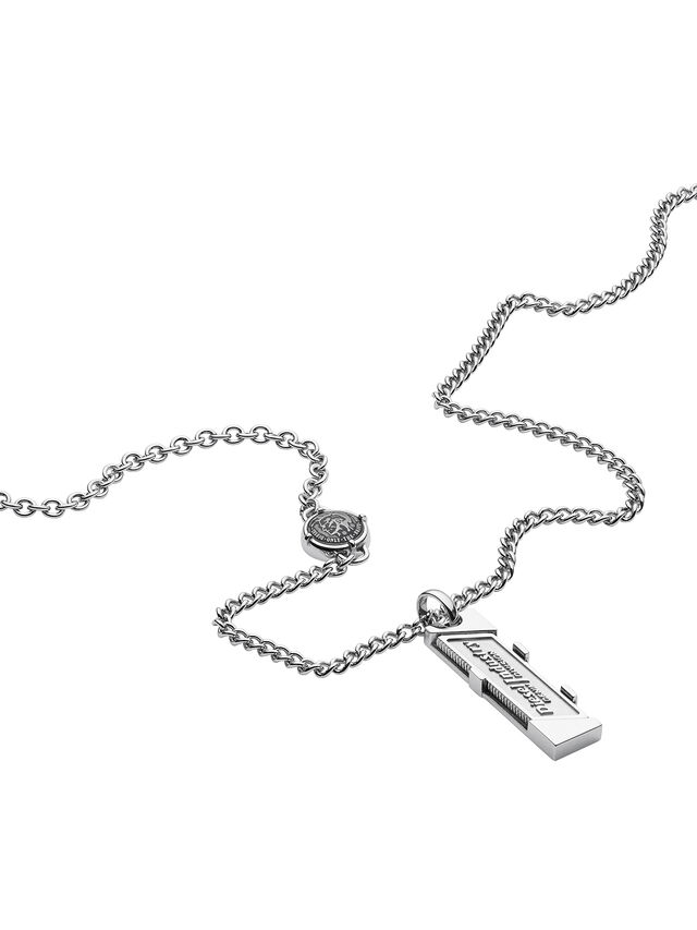 Diesel - NECKLACE DX1036, Plata - Collares - Image 2