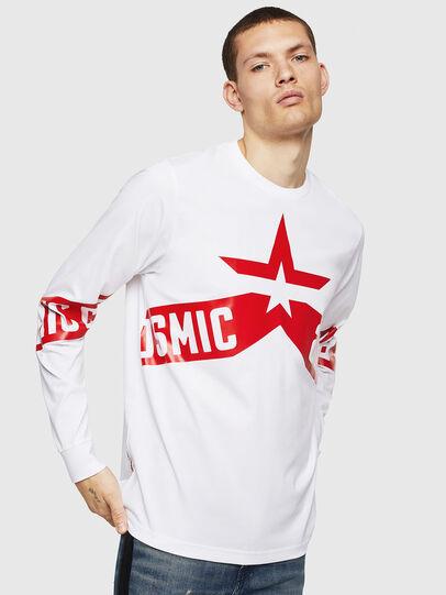 Diesel - T-JUST-LS-STAR, Blanco - Camisetas - Image 1