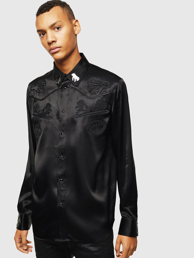 S-VEL, Negro - Camisas