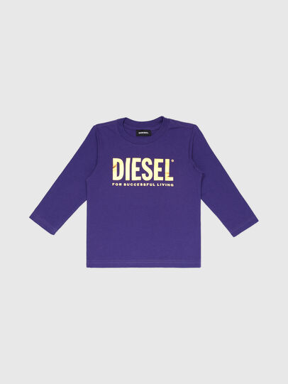 Diesel - TJUSTLOGOB-FL ML-R, Violeta - Camisetas y Tops - Image 1