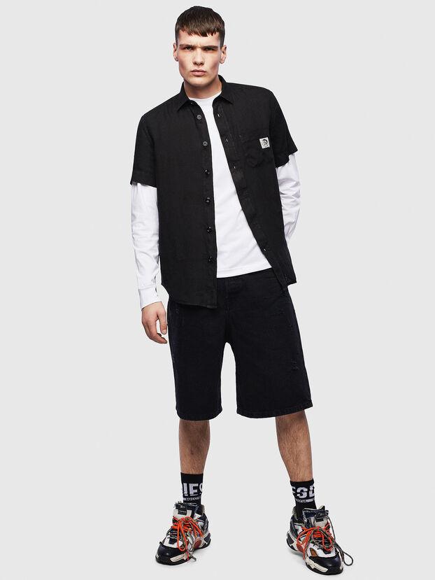 S-KIRUMA-B, Negro - Camisas