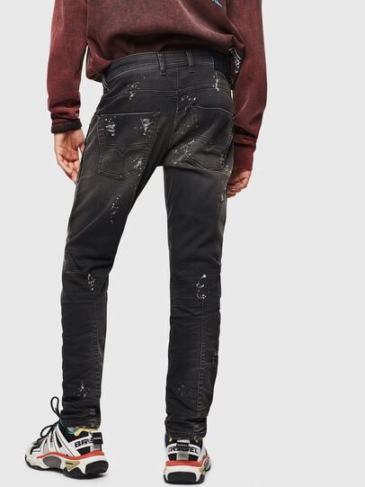 Diesel - Krooley JoggJeans 084AE, Negro/Gris oscuro - Vaqueros - Image 2