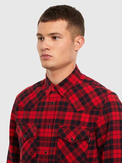 Diesel - S-EAST-LONG-CHK, Negro/Rojo - Camisas - Image 3